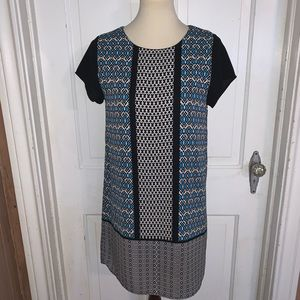Anthro Everly Color Block Dress.  Size Small